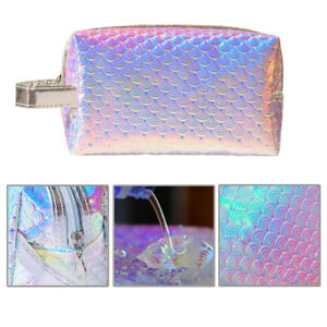 27bebed87d67 Details about Portable Unicorn Cosmetic Bag Mermaid Pouch Nail Art Makeup  Storage Holder Case