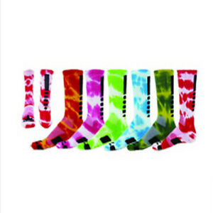 5274a6108 NEW RED MAX MAXIM TIE DYE CREW SOCKS BASKETBALL VOLLEYBALL LACROSSE ...