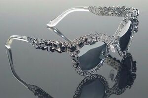 1360-Genuine-Dolce-amp-Gabbana-Filigree-Crystal-Sunglasses-DG-2134-B-M-1282-6G