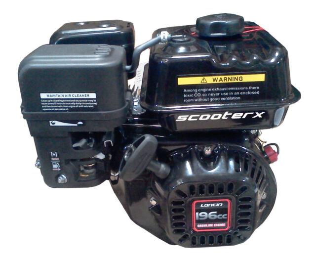 "Gas Motor Petrol 196cc 6.5hp 3/4"" Shaft Engine EPA Approved Go Kart Gasoline"
