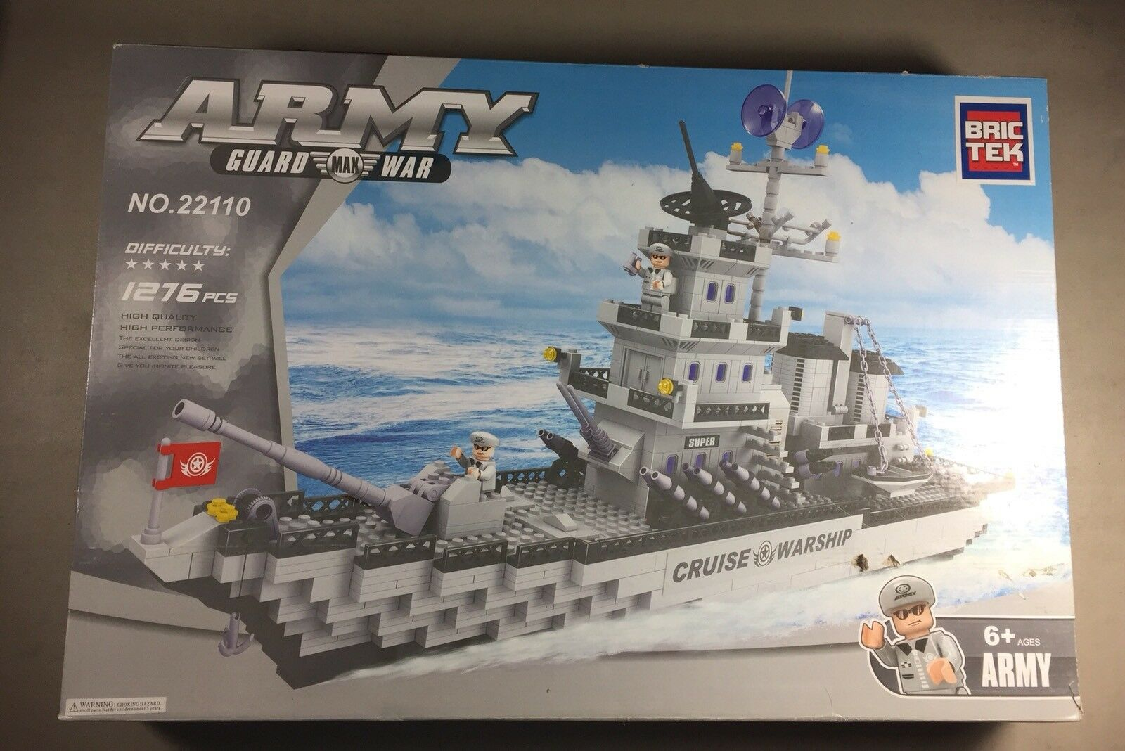 Bric Tek Brictek Army Navy Corps War Ship 600 Pcs 22802 Brand New Never Built