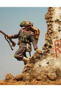 Bersaglieri-at-Capture-of-Rome-54mm-1-32-Tin-Painted-Toy-Soldier-Miniature-Art
