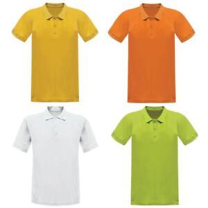 Regatta-Cordita-Mens-Tejido-que-absorbe-la-humedad-de-poliester-de-secado-rapido-Camisa-Polo-T-Shirt