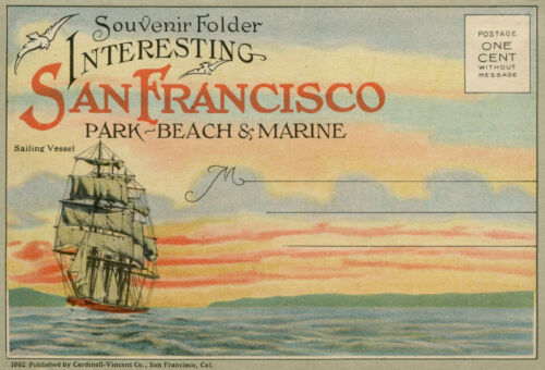 SAN FRANCISCO SOUVENIR FOLDER WITH 18 PICTURES BQ204