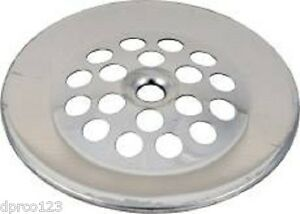"Tub Waste Overflow Drain Strainer Chrome W/Screw 2-7/8"" NIB (GERBER STYLE)"