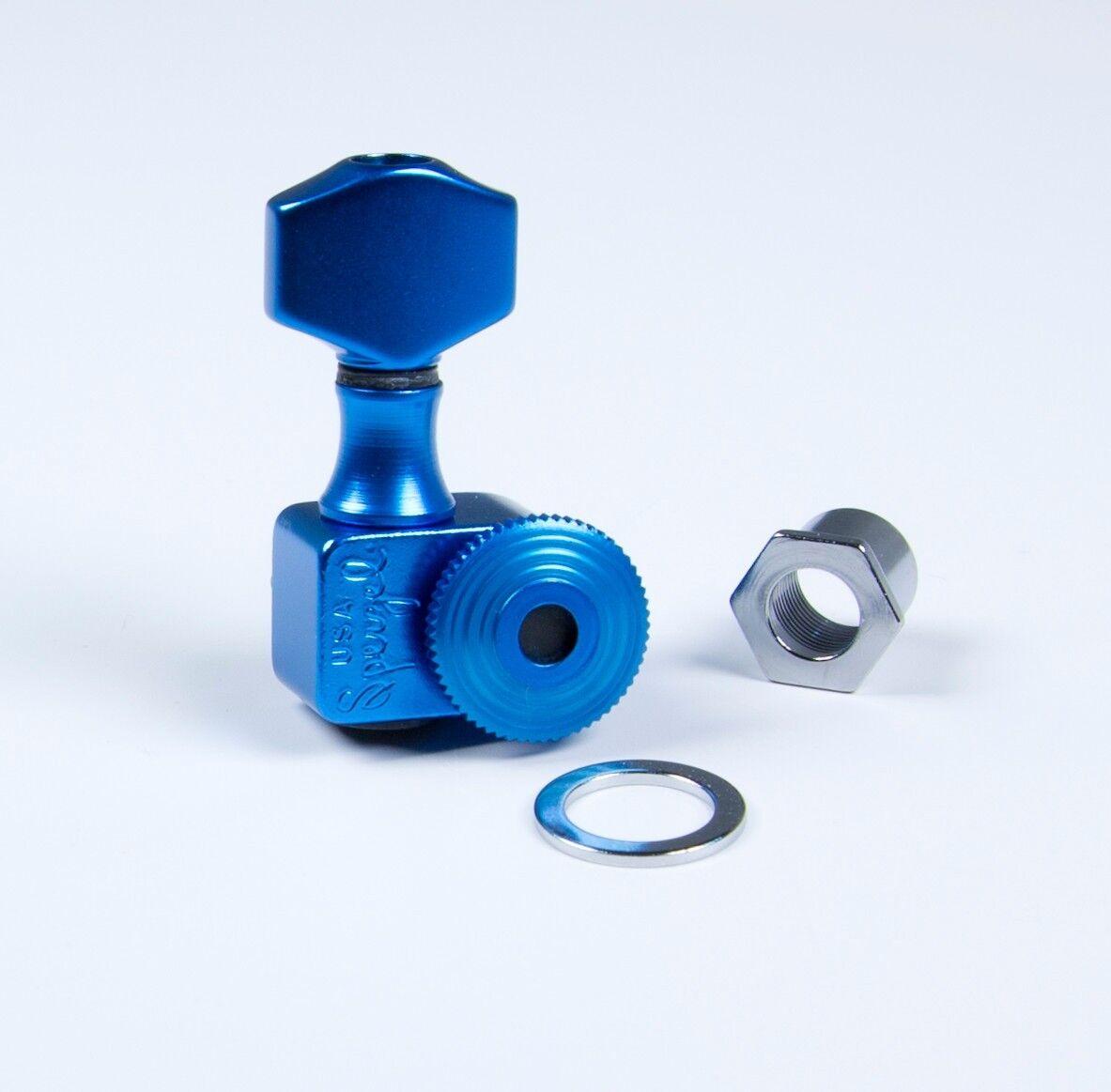 Sperzel Trimlok 6 in-line Blau tuners NEW Auth Dealer full warranty