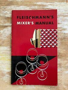 Vintage booklet Fleischmann's Mixers Manual cocktail recipies bar mid cent illus