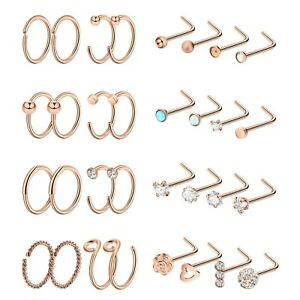 20G-Nose-Ring-Hoop-2pc-48pcs-Ear-Cartilage-Stud-Stainless-Steel-Piercing-Jewelry