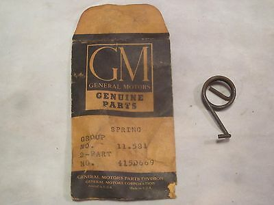 49 50 51 52 53 54 55 CHEVY OLDS NOS GM FRONT SEAT ADJUSTER LOCK BAR SPRING