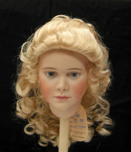 LADY WIG Light Blond size 13 long upswept curls no bangs for girl /& lady dolls