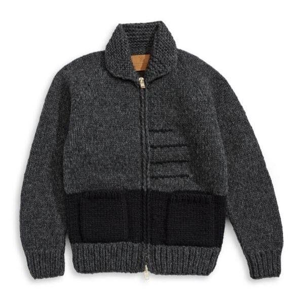 Hudson's Bay Company Hand Knit Sweater - Men Größe XS Charcoal New W/Tag