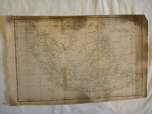 Antique ca 1820 Map East India Islands PHILLIPPINES from Rees' Cyclopaedia Atlas