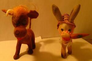 2-Toy-Jenny-Donkey-Amusement-Park-Animal-6-034-Prizes-1960s