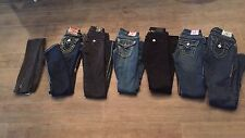 Womens True Religon jeans sizes 23/24 three pairs have real swarovski crystals