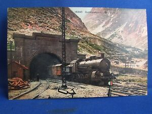 cpa-suisse-train-gotthardbahn-tunnel-locomotive