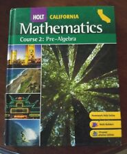 Holt Mathematics Course 2 Pre Algebra 7th Grade 7 MATH SELECTED ANSWERS VeryGood