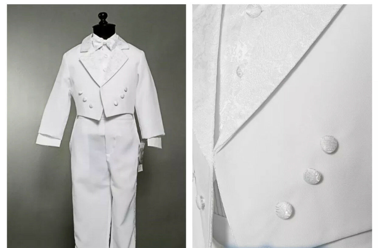 Baby Boy White Christening Wedding Baptism Smart Outfit Suit Formal Party 0/_m-4t
