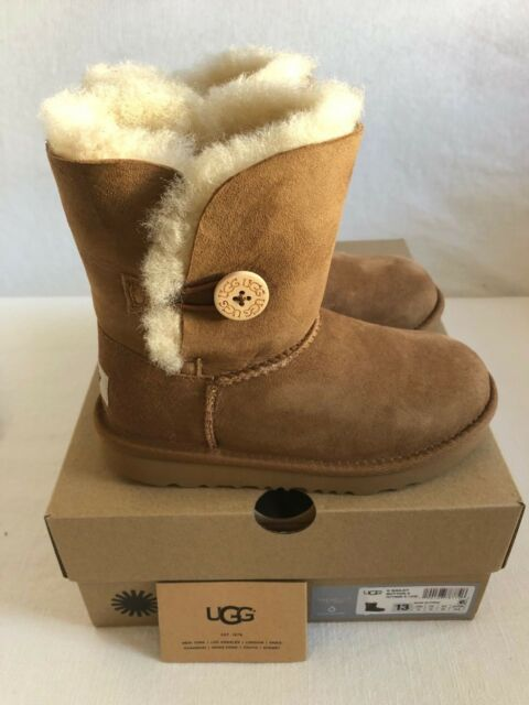 9deb6ce687c Kids UGG Bailey Button II Boot Chestnut Brown 1017400k-che Youth US 13