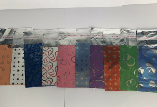 Self Seal Gift Bags Birthday Pack Of 10 Christmas Party Loot Bags Foil Bag