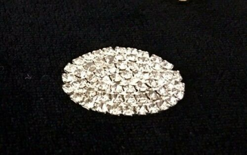 RHINESTONE BUCKLE CIRCLE HEART EMBELLISHMENTS GOLD SILVER SLIDER ARCH OVAL DIY