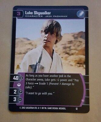 Star Wars TCG Promo Card #12 Luke Skywalker Jedi Padawan