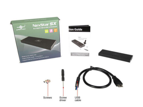 Vantec NST-M2STS3-BK NexStar SX M.2 SSD to USB 3.0 Enclosure