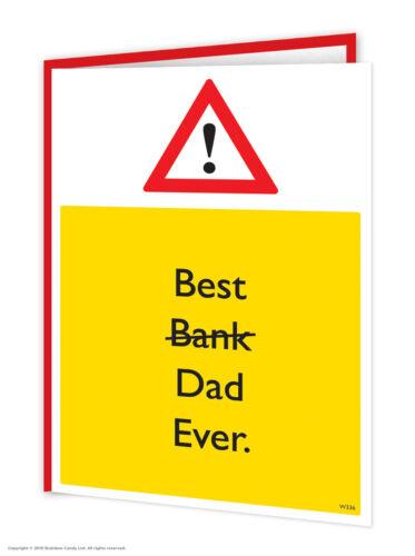 Drôle Pères Jour Carte Witty Comédie Humour Nouveauté Cheeky Blague Papa Daddy Père