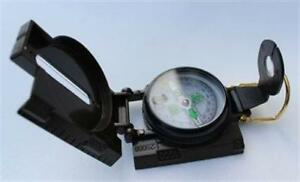 Kompass-Peil-Marschkompass-Taschenkompass-Bundeswehr-US-Army-Metall