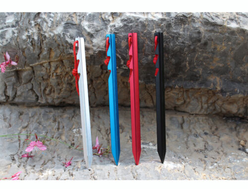 10PCS Aluminium Alloy Triangle Camping Trip Awning Tent Pegs Stake Nail 18cm