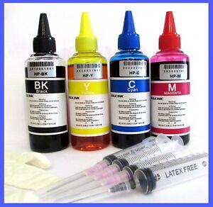 kit ricarica inchiostro per cartucce stampanti hp 350 nere e 351 c + accessori