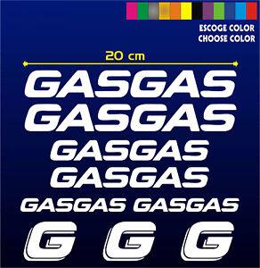 KIT PACK -PEGATINAS-STICKER- VINILO - GASGAS - Moto -Vinyl- Aufkleber -Gas Gas