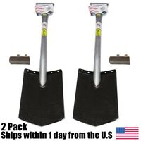 2 Pack King Of Spades Ks-d 13 All Steel D Handle Spade Shovel With 2 Foot Pads on sale