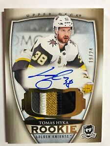 2018-19-Upper-Deck-The-Cup-Tomas-Hyka-GOLD-Rookie-4-Color-Patch-Auto-24