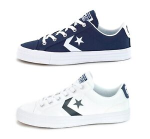 Details about CONVERSE STAR PLAYER OX - UNISEX SNEAKERS - NAVY 155408C or WHITE 155410C - NEW