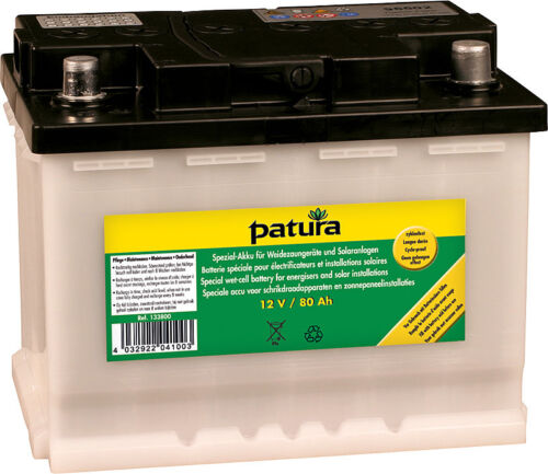 PATURA Special battery for 12 Volt Cordless tools 80 AH Pasture fence