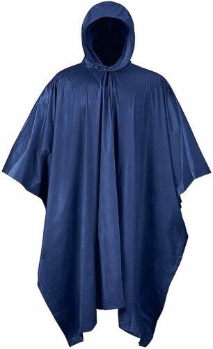 Outerwear Poncho PVC Rain Waterproof Raincoat Heavy Duty Large Navy Blue