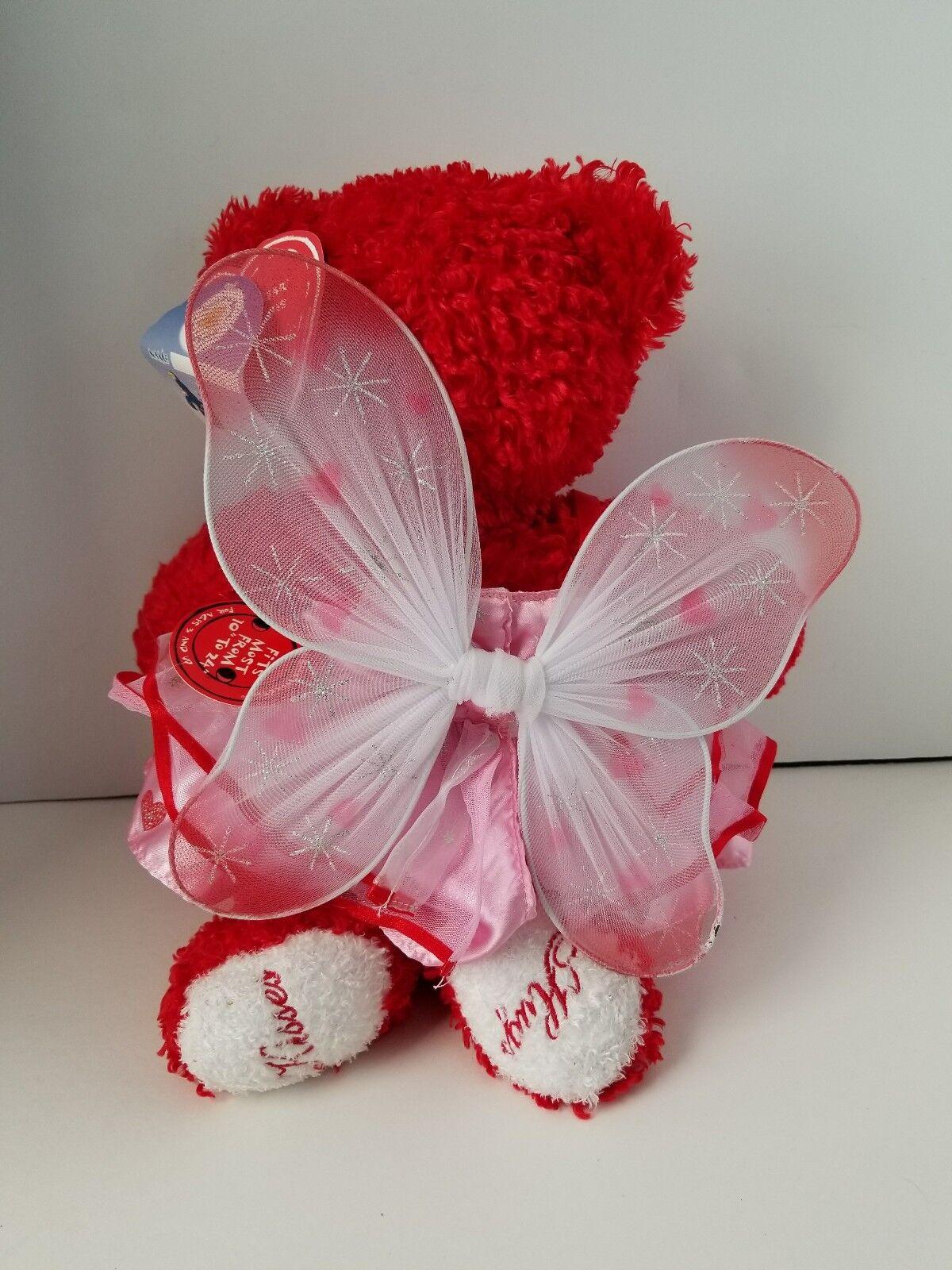 Build-a-Bear Hugs Kisses Limited Retirot 15  Plush Valentine Butterfly Dress Dress Butterfly NEW 91c937