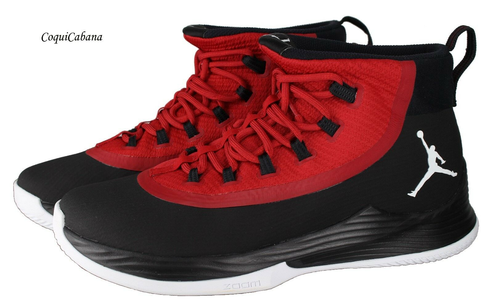 Nike Men's  Jordan Ultra Fly 2    Black - Red Basketball shoes Size 11.5 New