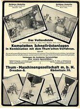 Thum-macchine Società Dresda-A. Caffè-computerizzato-impianti mulini V. 1912