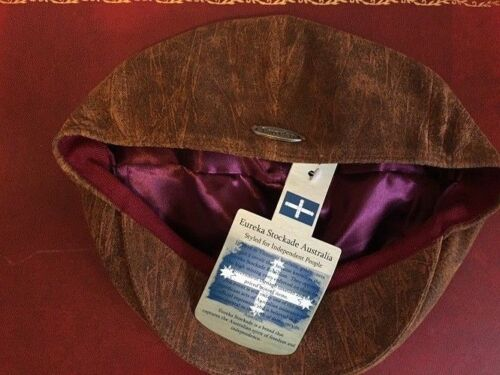 Genuine Eureka Stockade Karma accessoires en cuir souple 5 Panel Flat Cap