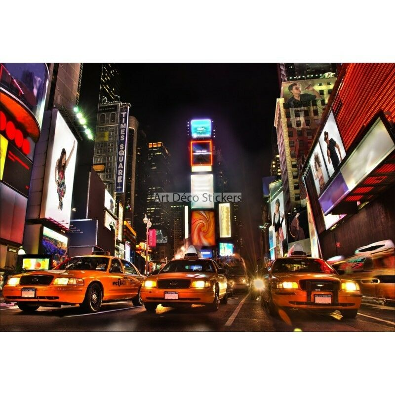 Stickers muraux géant déco : Taxi Taxi : jaune New York 1546 855039