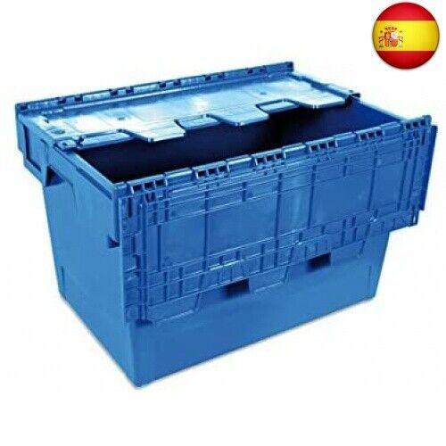 600x400x340 mm Tayg 6434-T Euro-caja con tapa para almacén y transporte,