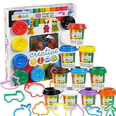Roadworks Creative Kids Craft Play Dough Set /& Accessories Boys Girls Case 39Pcs