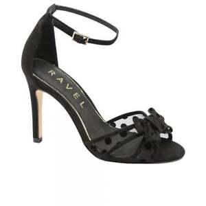 Evening Ravel Ladies Heel Party High Stiletto 4 Shoes Uk Sandals Black Danforth d4dwFYxaq