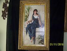 Orientalist Antique c19th Century Original Oil On Canvas Portrait Painting