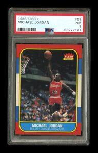 1986-87 Fleer Set Break # 57 Michael Jordan Rookie PSA 7 NM
