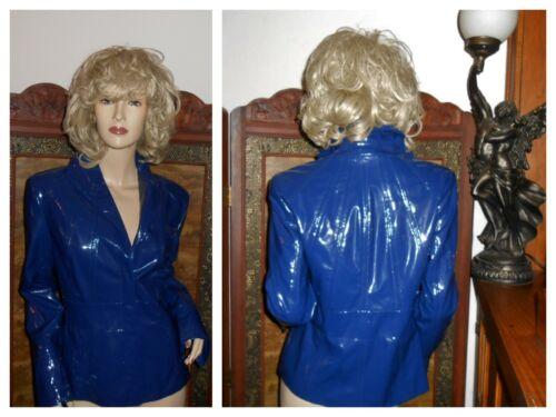 Pamela McCoy S/M Shiny Blue PVC vinyl raincoat rai