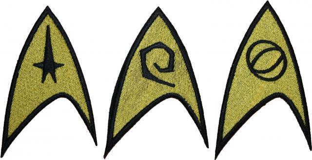 "Star Trek Movie Starfleet Engineer Science Command Badge Embroidered Patch 3.25"""