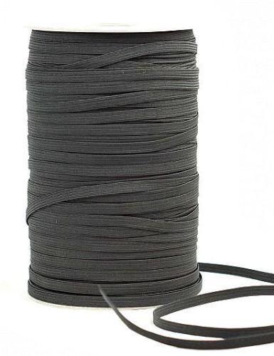 Elastico 12 Spago Piatto Disponibile in Nero o Bianco /& Diversi 10mm Ampiezza