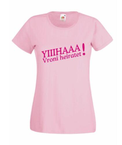 JGA Braut Security Junggesellenabschied Hochzeit T-Shirt Textildruck Shirt S401